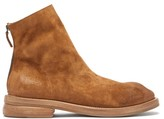 Marsèll Tronchetto Zipped Suede Ankle Boots - Mens - Brown