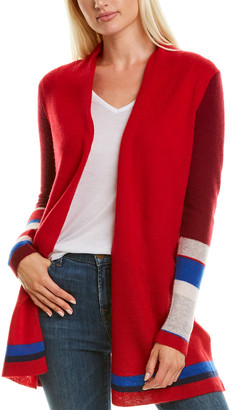 InCashmere Mixing Stripes Cashmere Cardigan