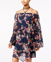 American Rag Off-The-Shoulder Floral-Print Shift Dress, Only at Macy's