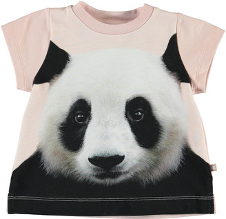 Molo Girl's Elly Panda Graphic Short-Sleeve Tee, Size 6-24 Months