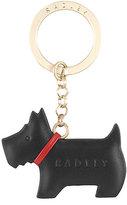 Radley Dog Black Leather Keyring
