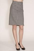Corey Lynn Calter Doris Houndstooth Pencil Skirt in Black/Bone