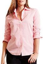 Lauren Ralph Lauren Plus Striped Cotton Shirt