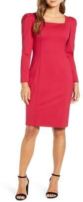 Rachel Parcell Square Neck Long Sleeve Ponte Dress