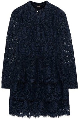 Adam Lippes Tiered Cotton-blend Corded Lace Mini Dress