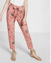 Express floral print jersey sash pant