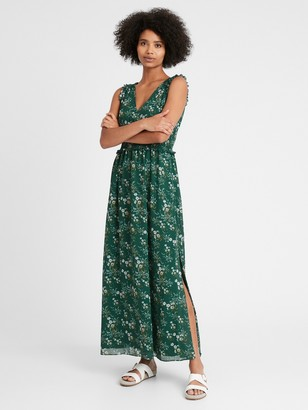 Banana Republic Petite Smocked Maxi Dress