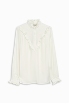 Paul & Joe Crepe Ruffle High Neck Top