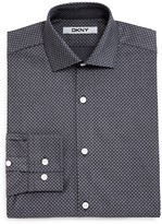 DKNY Boys' Dobby Neat Dress Shirt - Sizes 8-18