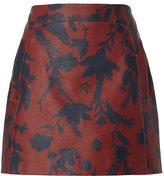 Tanya Taylor Stasha Printed Leather Skirt