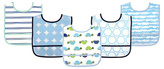 Luvable Friends Blue Turtle Waterproof Bib Set