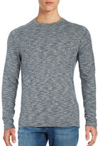 Selected Long-Sleeve Marled Cotton Tee