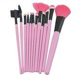 Lanova Beauty 12pcs Pure Synthetic Makeup Brush Set Makeup Cosmetics Hair Brush-Pink by Lanova