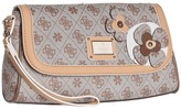 GUESS Persuasion Mini Wristlet Clutch (Mocha) - Bags and Luggage