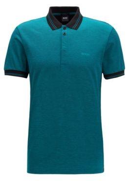 Slim-fit polo shirt with seasonal artwork