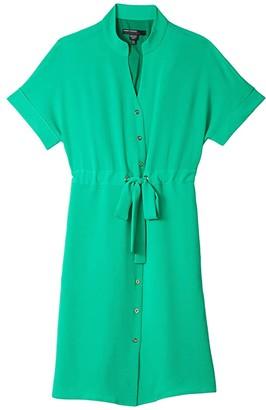 Maggy London Easy Dolman Sleeve Grommet Dress (Basil Green) Women's Clothing