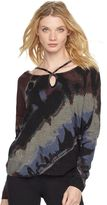 Rock & Republic Women's Tie-Dye Scoopneck Sweater