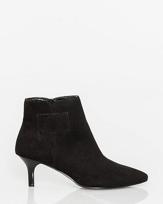 Le Château Faux Suede Pointy Toe Ankle Boot