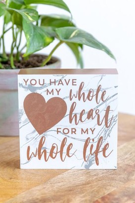 francesca's Whole Life Box Sign - Rose/Gold