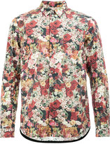 Undercover roses print shirt - men - Cotton/Wool - 1