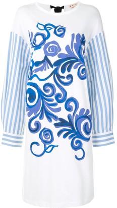 Marni Tornado print short dress