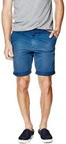 GUESS Men's Summery Flat-Front Classic-Fit Shorts