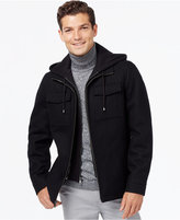 INC International Concepts Hooded Wool-Blend Jacket, Only at Macy's