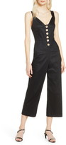 Finders Keepers Valentina Button Front Jumpsuit