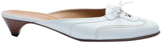 Hermes White Leather Mules & Clogs