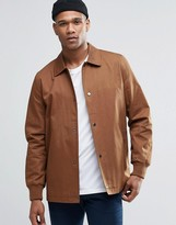 Asos Cotton Coach Jacket in Tan