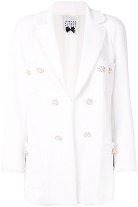Edward Achour Paris Double-Breasted Tweed Blazer