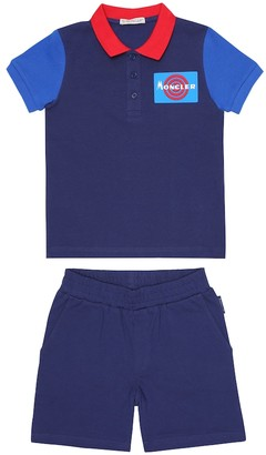 Moncler Enfant Cotton T-shirt and shorts set
