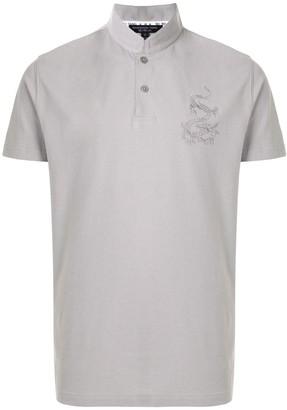 Shanghai Tang Logo Embroidered Polo Shirt
