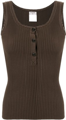Chanel Pre-Owned ribbed CC vest