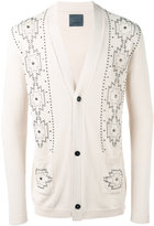 Laneus metallic embellished cardigan - men - Cotton - 46