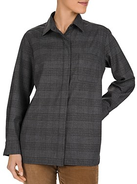 Gerard Darel Macha Oversized Glen Plaid Shirt