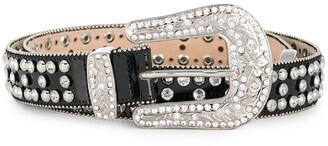 Philipp Plein embellished cowboy belt