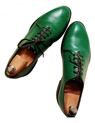 Dolce & Gabbana Green Leather Lace ups