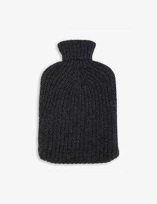 Johnstons Cable-knit cashmere hot water bottle