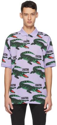 Lacoste Purple Chinatown Market Edition Big Croc Polo