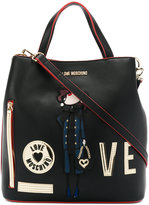 Love Moschino piping contrast tote - women - Polyurethane - One Size