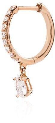 Anita Ko 18kt Rose Gold Diamond Hoop Earring