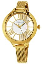 Stuhrling Original Women's Quartz Watch with Mother Of Pearl Dial Analogue Display and Gold Stainless Steel Bracelet 595.02