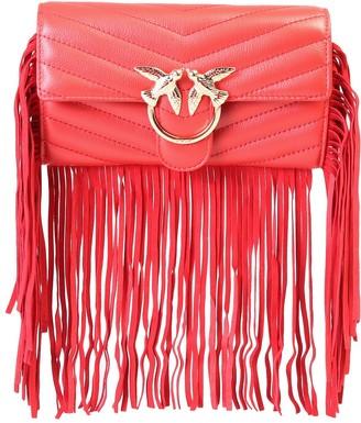 Pinko Love Fringed Shoulder Bag