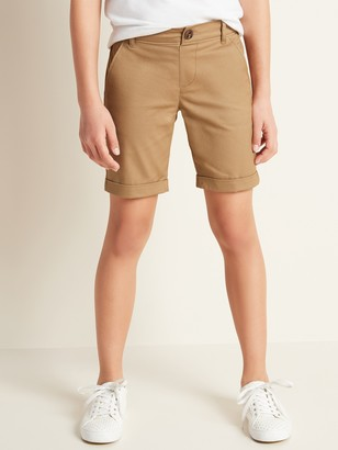 Old Navy Stain-Resistant Uniform Bermuda Shorts for Girls