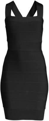 Herve Leger Sleeveless Mini Bodycon Dress