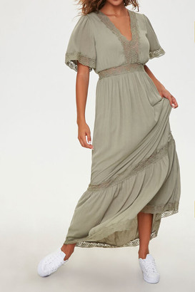 Forever 21 Lace-Trim Maxi Dress