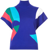 DELPOZO colour block knit top - women - Merino - S