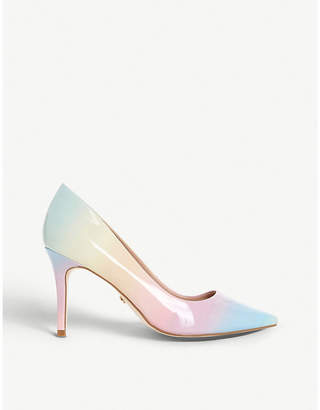 Dune Amazed ombre heeled patent courts