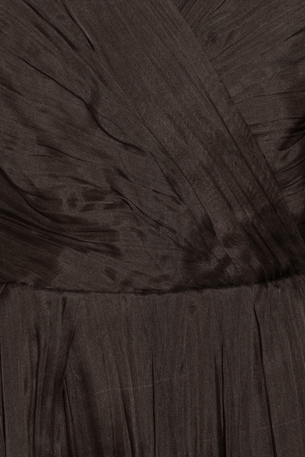 Oscar de la Renta Crinkled silk-organza gown